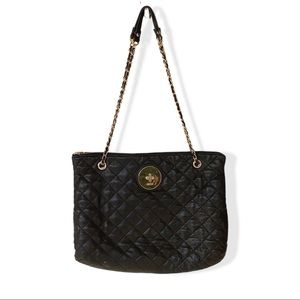 DKNY Black and Gold Quilted  Chain Strap Purse